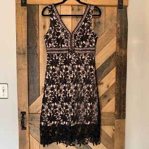 Soprano | Black Lace Crochet Dress